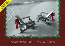 Beachfront Holiday Greeting Cards