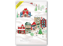 Cheerful Village Holiday Cards